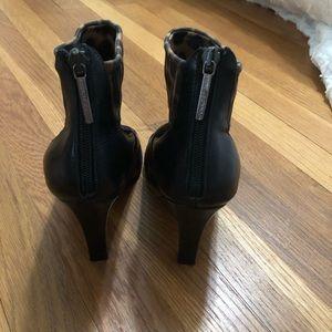 Donald J. Pliner Shoes - Donald J Pliner stretch leopard peep toe booties